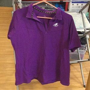 Let purple prevail riding shirt!